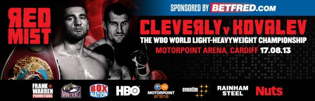 REAL COMBAT MEDIA UK: CLEVERLY MUST USE BRAIN INSTEAD OF BRAWN V. KOVALEV