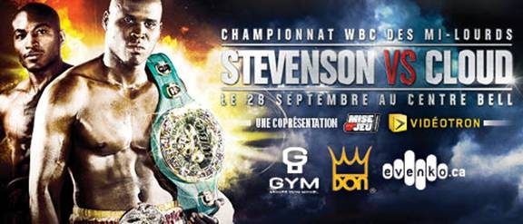 Stevenson vs. Cloud, Montreal Bell Centre on September 28