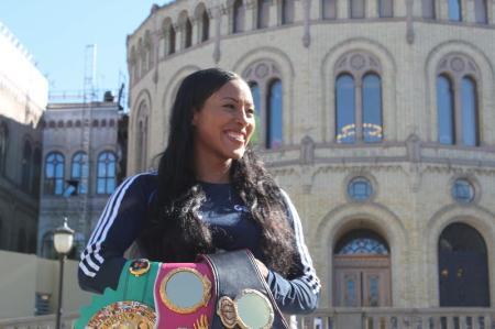 Female Champ Cecilia Braekhus Media Day in Oslo