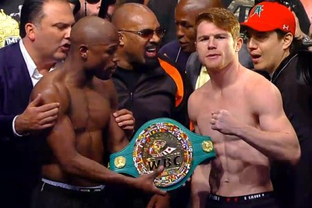 Mayweather-Canelo weigh-in results